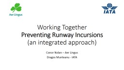 Working Together Preventing Runway Incursions