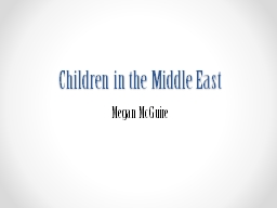 Children in the Middle East PowerPoint PPT Presentation