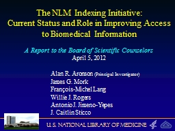 The NLM Indexing Initiative: