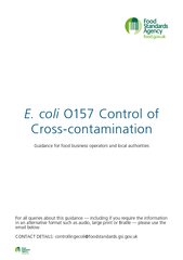 E coli O Control of Crosscontamination Guidance for fo PowerPoint PPT Presentation
