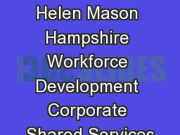 Innovation Helen Mason Hampshire Workforce Development Corporate Shared Services