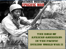 The role of African-americans