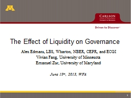 The Effect of Liquidity on Governance