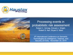 Processing events in probabilistic risk assessment