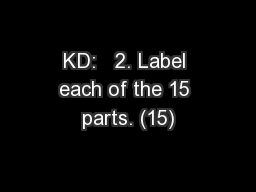 KD:   2. Label each of the 15 parts. (15)