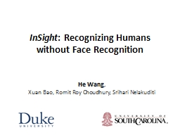 InSight : Recognizing Humans without