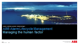 ABB Alarm Lifecycle Management