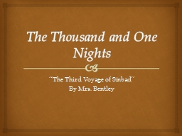 The Thousand and One Nights PowerPoint PPT Presentation