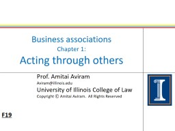 Business associations Chapter 1: PowerPoint PPT Presentation