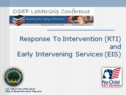 Response To Intervention (