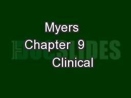 Myers  Chapter  9          Clinical