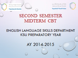 Second semester midterm CBT