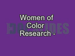 Women of Color  Research -