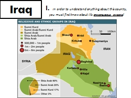 Iraq I.   In  order to understand anything about this country,