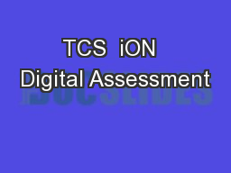TCS  iON  Digital Assessment