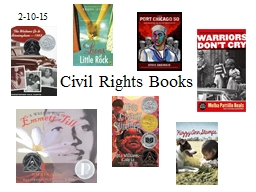 2-10-15 Civil Rights Books