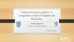 Conceptualisation of ECONOMY in the British and Romanian business press. A corpus-based approach