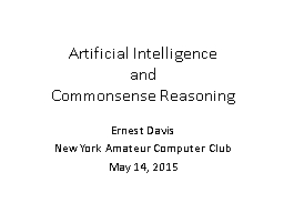 Artificial Intelligence and