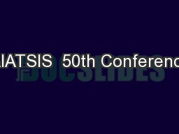 AIATSIS  50th Conference
