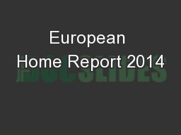 European Home Report 2014
