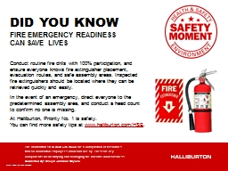 Fire  Emergency  Readiness can save lives