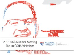 2018 BISC Summer Meeting