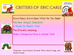Critters of Eric Carle Brown Bear, Brown Bear What Do You See?