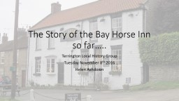 The Story of the Bay Horse Inn