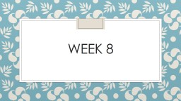 Week 8 Monday Standard: have Night books ready to finish chapter 5 and 6. You'll also need your s