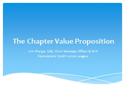 The Chapter Value Proposition