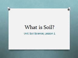 Soil pH Unit: Soil  Science