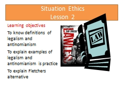 Situation Ethics Lesson 2