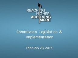 Commission Legislation & Implementation