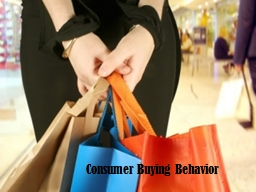 Consumer Buying Behavior PowerPoint PPT Presentation