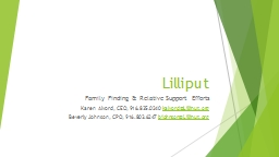 Lilliput  Family Finding & Relative Support Efforts