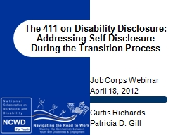 The 411 on Disability Disclosure: