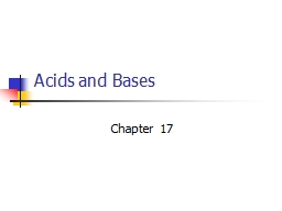 Acids and Bases Chapter 17