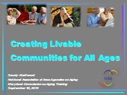 Creating Livable Communities for All Ages