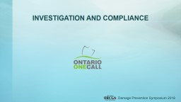 INVESTIGATIONS  AND  COMPLIANCE