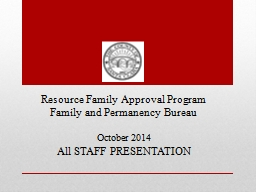 Resource  Family Approval