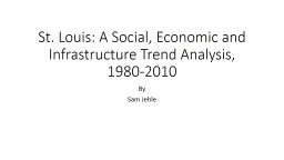 St. Louis: A Social, Economic and Infrastructure Trend Analysis, 1980-2010
