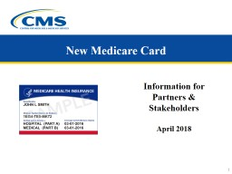 New Medicare Card Information for Partners & Stakeholders