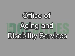 Office of Aging and Disability Services