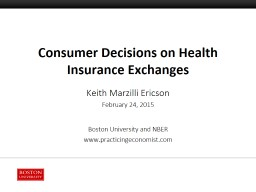 Consumer Decisions on Health Insurance Exchanges PowerPoint Presentation, PPT - DocSlides