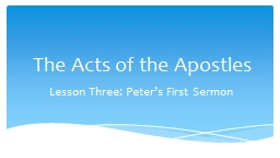 The Acts of the Apostles PowerPoint PPT Presentation