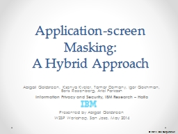 Application-screen Masking: