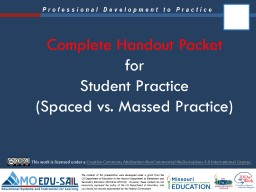 Complete Handout Packet