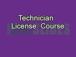 Technician  License  Course
