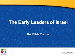 The Early Leaders of Israel