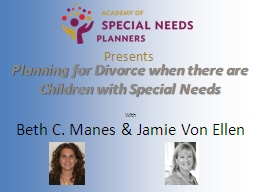 Presents Planning for  Divorce when